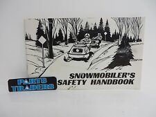 Vintage 1974 Snowmobiler's Safety Handbook Snowmobile Sled