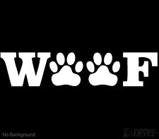 Woof Dog Decal Dog Paws Outdoor Vinyl Sticker Cars Windows Walls Buy 2 Get 1Free
