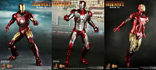 "Hot Toys Iron Man 2 Mark IV, V, VI (Mark 4,5,6) Set of 3 12"" Figures - Brand New"