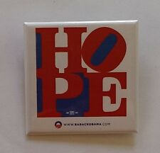 Official Obama Campaign Square HOPE Button - Pin