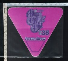 Allman Brothers Band Cloth Backstage After Show Pass; 2004 'Big 35 Tour'