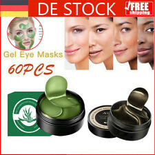 Augen Maske Eye Mask Kollagen Gel Augenpads Anti-Falten Feuchtigkeit Grün 60pcs