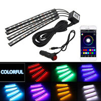 12V Car Interior LED Strip Lights RGB Multicolour Control APP Atmosphere Decor