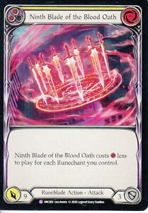 Ninth Blade of the Blood Oath Flesh and Blood Arcane Rising ARC082 Super Rare