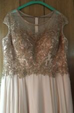 Madelyn Gardner NY Rose Gold Mother of the Bride Groom Formal Beaded Gown 14