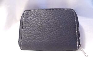 Navy Blue 100% PVC Wallet/Card Holder (5.5x4x1 in)  New  #PW218