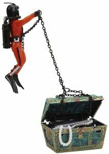 "LM Penn Plax Action Aerating Treasure Diver 3""L x 3""W x 4""H"