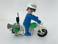 Playmobil Policeman Motorcycle Bike Vintage Playpeople 1729 Marx Toys