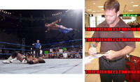 "Rare CHRIS BENOIT signed Autographed ""WWE"" 8X10 Photo PROOF Diving Headbutt COA"