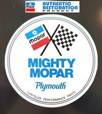 "PLYMOUTH GTX ROAD RUNNER CORONET SUPERBIRD MIGHTY MOPAR PARTS DECAL STICKER 5"""