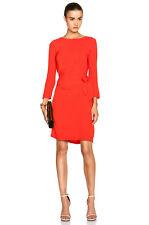 DVF Diane Von Furstenberg Silk Zoe Dress Sundried Tomato Red  6