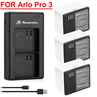 5200mAh High Capacity Battery/ Charger Lot For ARLO PRO 3, Ultra Security Camera