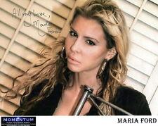 Maria Ford Hand Signed 8x10 Color Photo+Coa Beautiful+Sexy Model