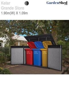 Keter Grande Store 1.91m(W) x 1.09m(D) Dbl Door + Lid - FREE HOME DELIVERY*