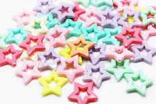 Star Bead Plastic Star-shaped Pastel Candy Color Large Children Baby 27mm 20pcs