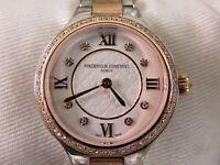 Frederique Constant Geneve Rose Gold Diamond Watch Classics Delight 48 Diamonds