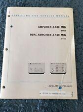 Hewlett Packard 8447A HP Amplifier Dual Amplifier .1-400 MHz Manual
