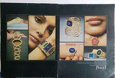1971 Piaget women's watch vintage original 2 page  ad