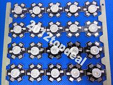 100pcs 3W High Power Royal Blue 445nm LED Emitter 45mil Chip + 20mm Star PCB
