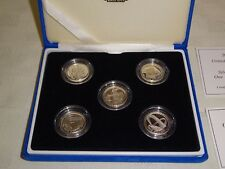 Royal Mint 2003-2007 Silver Proof £1 Coin Set - Bridge Designs - 5 Coin Set