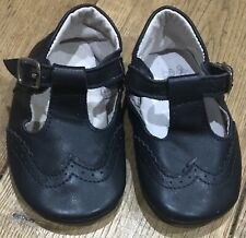 BOYS DESIGNER BORBOLETA LEATHER SHOES IN NAVY BLUE SIZE 6-12 MONTHS - RRP £42 -