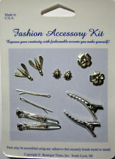 NEW 12 pc  FASHION ACCESSORY KIT Hair Accessories Clips Flowers BOUTIQUE TRIMS