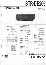 Sony Service Anleitung Manual STR-DE205  B1209