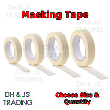 Masking Tape Indoor Outdoor Painting Decorating DIY Car Auto (25mm - 50mm x 50M)