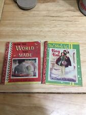 Vintage 1949 Lolly Pop Books The Story Of Tiny Tim How The World Was Made Pair