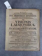 Thèse du 18ème Visionis Laesionibus Myosi Monoyer ophtalmologie optique médecine