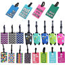 Colourful PVC Luggage Tag Name Bag Card Holder Travel Suitcase Luggage Tags