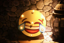 LOL Emoji Retro LED Light Sign Metal Handmade Hanging Decoration Bedroom