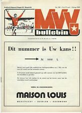 Programma MVV-  Go Ahead Eagles 1975-1975