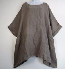 Maglie e camicie da donna grigi casual taglia taglia unica