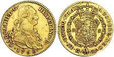 SPAIN COIN CARLOS IV 2 ESCUDOS 1790 MADRID ORO GOLD ORIGINAL MAGNIFICA!!!