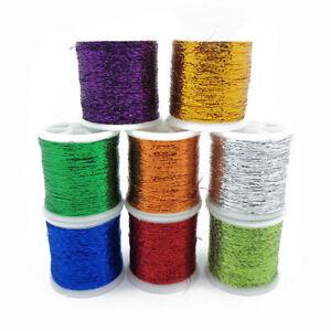 8 Metallic Glitter Thread 30m Shiny Decorative Embroidery Sewing Craft DIY