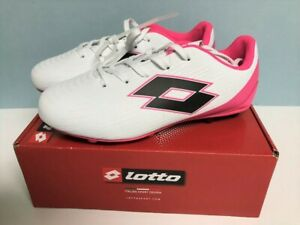 Lotto Girl's Soccer Cleats Size 5 or 6 WIDE Width Pink & White NEW