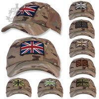 MULTICAM / MTP TACTICAL OPERATORS BASEBALL CAP WITH UNION FLAG / JACK PATCH