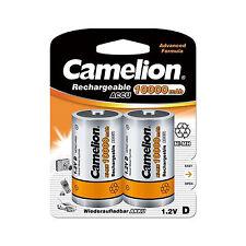 2 Accus Piles rechargeables LR20/D 10000mAh CAMELION