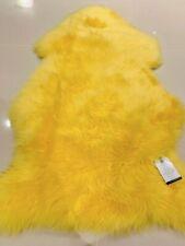 Royaume-Uni fait véritable Super Doux De Luxe En Peau De Mouton Tapis masquer Pelt jaune vif
