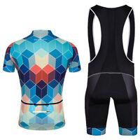 Men's Reflective Cycling Jersey and Bib Shorts Set Coolmax Bicycle Clothing Kit