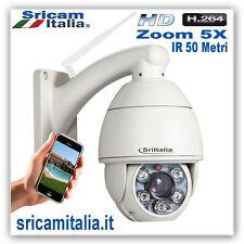 IP CAMERA WIRELESS DOME  WIFI PTZ ZOOM 5X HD HD  IRCUT LED 50 METRI H.264 SRICAM