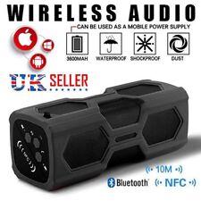 Portable 20W Wireless NFC Bluetooth Speaker USB Power Bank 3600mAh Waterproof TF