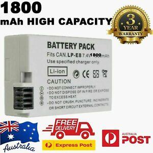 High Capacity LPE8 LP-E8 Battery For EOS Canon550D 600D 650D 700D   1800mAh OZ