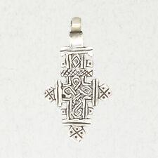 Ethiopian Coptic Cross-Pewter African Christian Religion Medieval Pendant Jewel