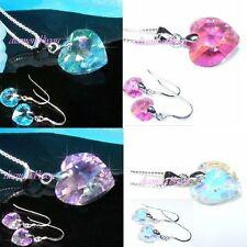 Heart Sterling Silver Fine Diamond & Gemstone Jewellery Sets