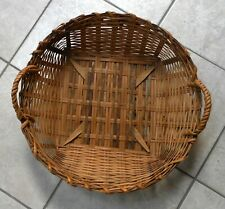 "<RUSTIC><VINTAGE>18""dia<LARGE ROUND BASKET>nice patina > great  for wall decor>>"