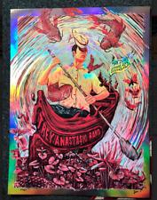 Trey Anastasio Band St Petersburg rainbow foil Poster 5/28/19 Zeb Love Tab Le 50