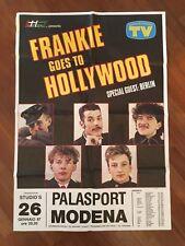 MANIFESTO,POSTER,FRANKIE GOES TO HOLLYWOOD 1987 CONCERT TOUR MODENA PALASPORT