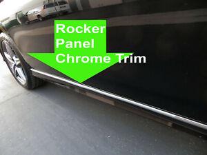 FOR MERCEDES 2007-2017 ROCKER PANEL Body Side Molding CHROME Trim 2pc